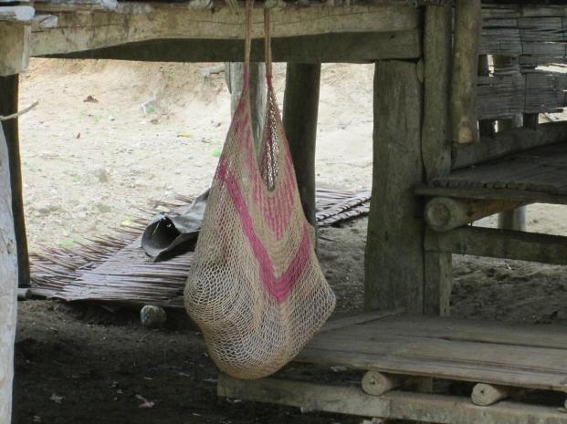 Baby sleeping in a bilum (2012)